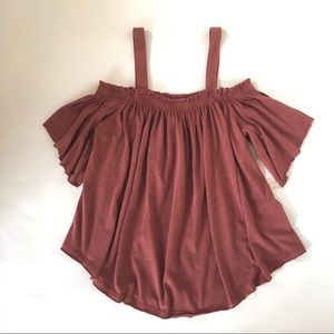 We The Free Off-The-Shoulder Ruffle Top NWT